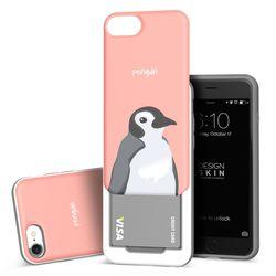 아이폰876 슬라이더 펭귄 카드케이스