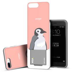 아이폰876플러스 슬라이더 펭귄 카드케이스