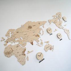 실크로드 세계지도 벽시계(특대)