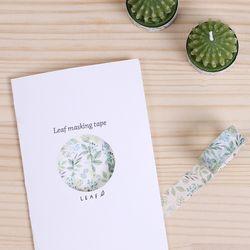 나뭇잎 마스킹테이프 BM-LA004