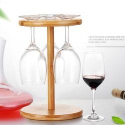 우드 6구 와인잔걸이 와인랙