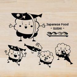 ij488-귀여운초밥그래픽스티커
