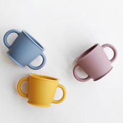 파스텔 실리콘 어린이 양손손잡이 컵(3color)