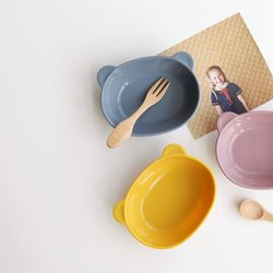 파스텔 실리콘 어린이 접시(3color)