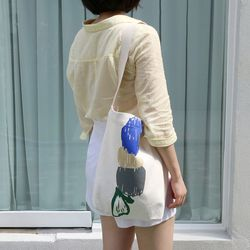 물결 canvas bag white