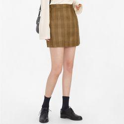 trendy check mini skirts (s m)