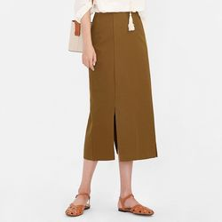 basil side slit skirt (s m)