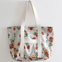 orange flowers bag