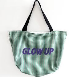 green glow up bag
