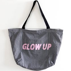 black glow up bag