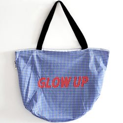 blue glow up bag