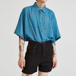 check silk 12 shirts (3 color) - UNISEX