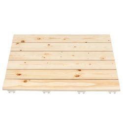 소나무 원목 욕실발판 60cm