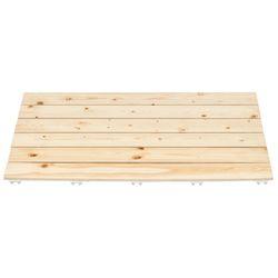 소나무 원목 욕실발판 80cm