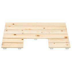 소나무 원목 욕실발판 변기형