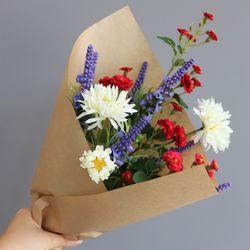 꽃다발 플뢰르 NO.11 - 실크플라워 인테리어조화