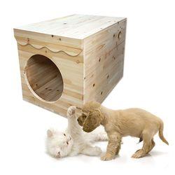 원목 강아지하우스1 강아지 고양이 원목하우스