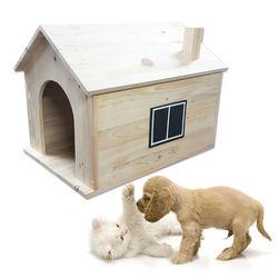 원목 강아지하우스2 하우스형 강아지 고양이 원목하우스