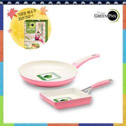 추석세트2종 소피아(핑크) 팬24cm+요크핑크 계란말이팬