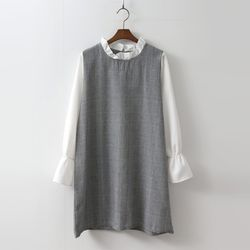 Frill Glencheck Dress