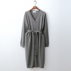 Wool Button Dress N Cardigan