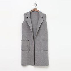 No Button Knit Vest