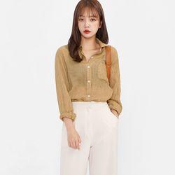 natural crease blouse