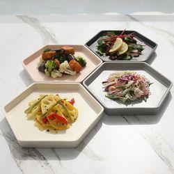 마리벨 육각 접시세트 4P