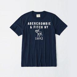 아베크롬비 로고 반팔 티셔츠 0068 023 네이비