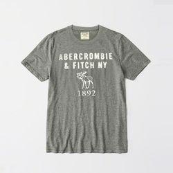 아베크롬비 로고 반팔 티셔츠 0068 012 그레이