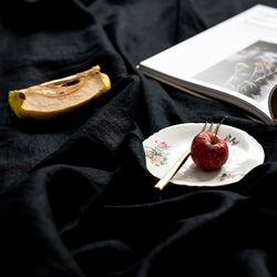[Fabric] 백마포 블랙 - 퓨어린넨 캔버스 백마포