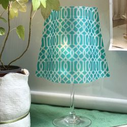 와인잔 램프 쉐이드 클래시크 틸+LED티라이트
