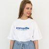 tranquille 자수 오버핏 화이트 티셔츠