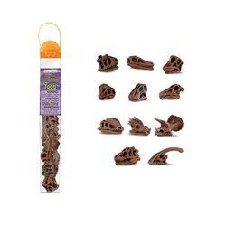 687404 공룡두개골 피규어모음 튜브