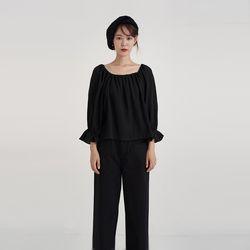banding square blouse (4colors)