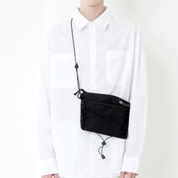 CORDURA TECH SACOCHE  BAG (ALL BLACK)