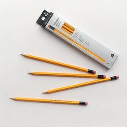 3000 노랑 삼각 연필 10본세트
