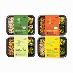 밥심도시락 - 건강식단관리 혼밥세트 4팩