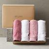 프리미엄 호텔수건 190g 선물세트 4매(핑크톤)+쇼핑백포함