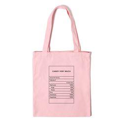 성분표 에코백 NUTRITON ECO BAG - pink