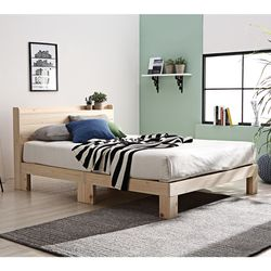 피노 원목 퀸 침대 +매트리스