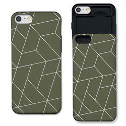 [아이폰6] polygon 카키 S3104B 슬라이더 케이스