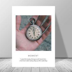 빈티지 캔버스아트 카페 인테리어 시계 액자