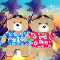 19곰 테드 여름한정 하와이안셔츠 인형 2종