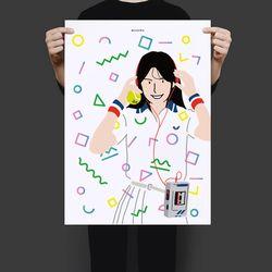 유니크 일본 디자인 포스터 M 80s 씨티팝 A3(중형)