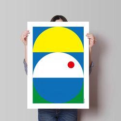 유니크 인테리어 디자인 포스터 M 컴포지션3 A3(중형)