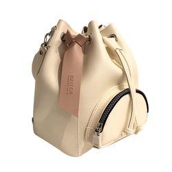 BUCKET M IVORY- SHOULDER BAG