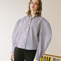 STRIPE VOLUME SHIRT NAVY