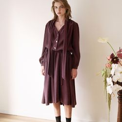 TIE MAXI DRESS DEEP PURPLE