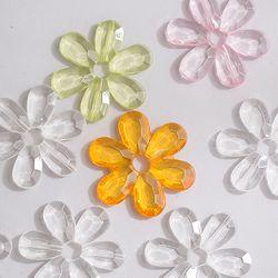 아크릴 꽃 비즈(6cm-5개)